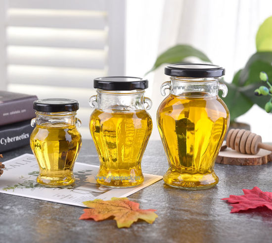 Glass Jar with Cap for Honey Packing