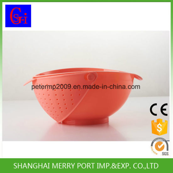 Fashion Home Plastic Rice Wash Colander Strainer Seive Kitchen Vegetable Fruit Drain Basket pictures & photos