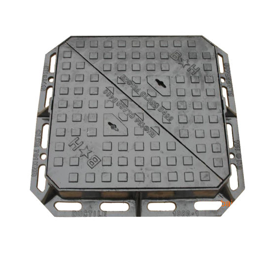 OEM Engineering Road Ductile Iron Double Triangular Manhole Cover with Frame