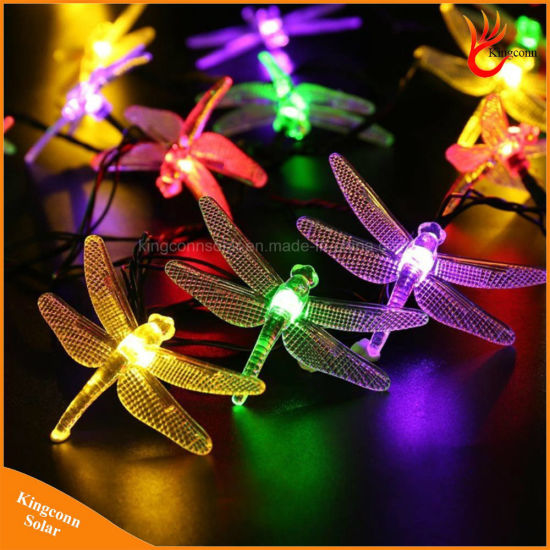solar christmas lights 30 led solar dragonfly fairy string lights