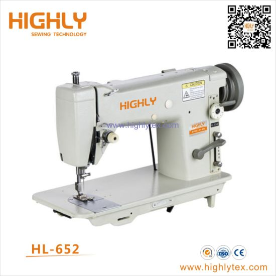 Hl-652 Automatic Thread Reeling Leather Embroidery Zigzag Sewing Machine