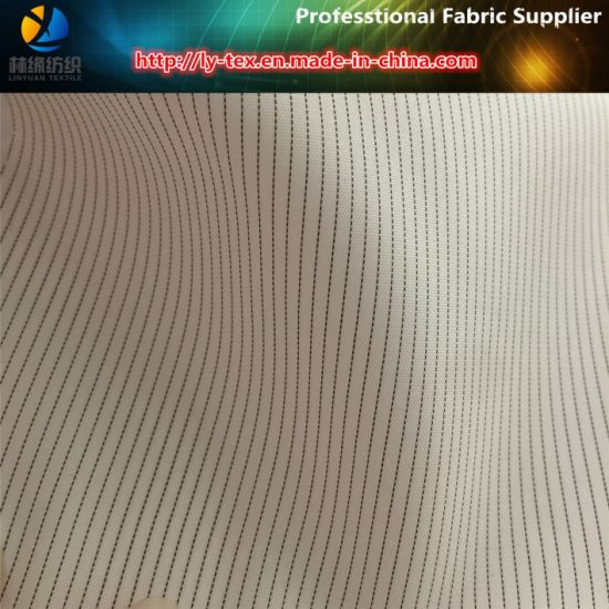White Sleeve Lining, Polyester Stripe Suit Lining Fabric (S112.168) pictures & photos