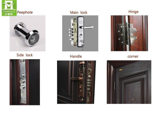 2017 China Best Selling Modern Style Qualified Security Door pictures & photos