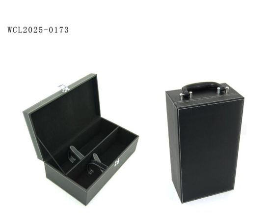 Handmade Antique Luxury PU Leather Wine Box Gift Box pictures & photos