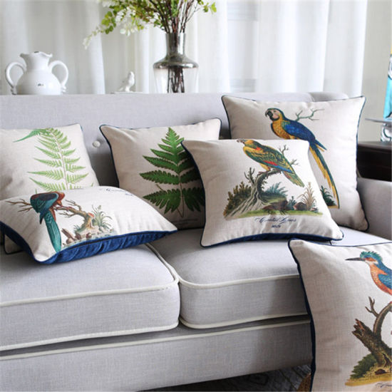Cotton Linen Printed Outdoor Sofa Cushions for Couches Decor pictures & photos