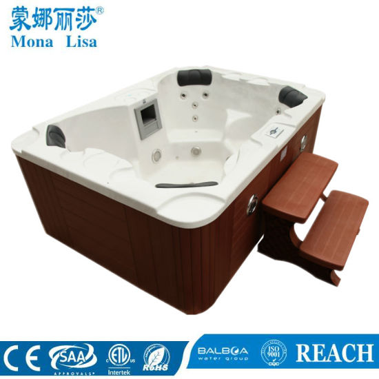 2.1 Meters Cloud White Acrylic Outdoor Rectangle Hot Tubs M-3332 pictures & photos