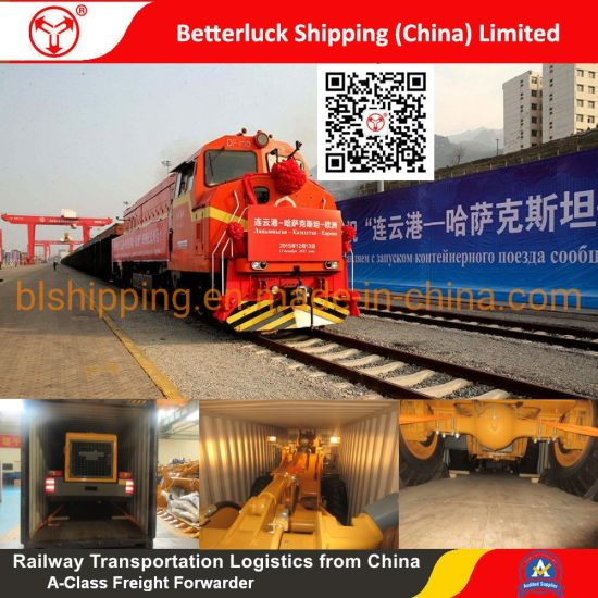 Freight Logistics Services to Pavlodar/Kazakhstan from China/Nanjing/Shanghai/Alataw Railway Transportation cargo wheel loader pictures & photos