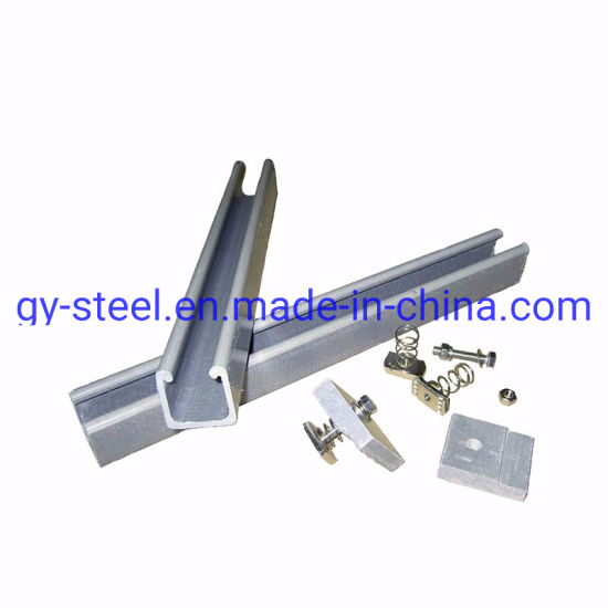 High Quality Slotted Solar Panel Support Steel Profile C Channel Sizes