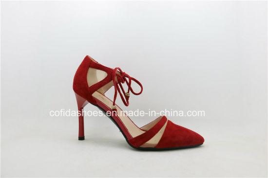 1b5518274 Trendy Comfort Medium Heel Lady Fashion Leather Sandals pictures & photos