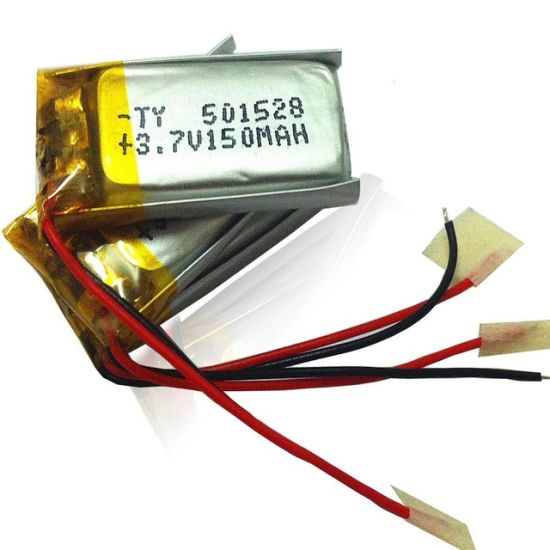Samples Support 5X15X28mm 150mAh 3.7V Rechargeable Li-Polymer Battery Cell with PCM and Wires pictures & photos