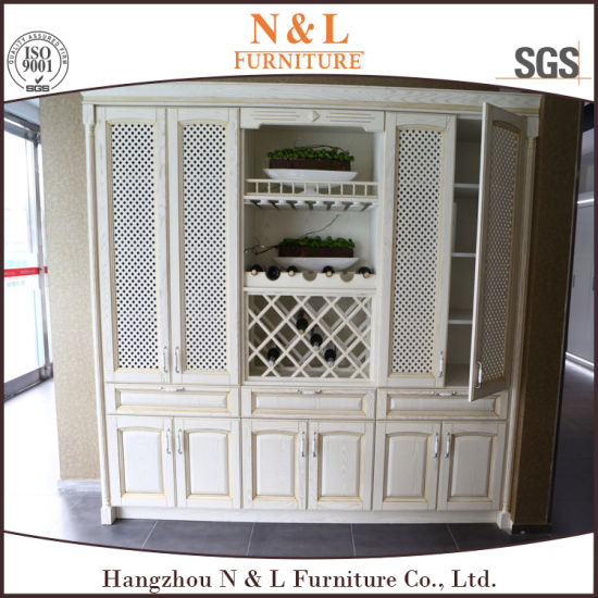 Solid Wood Home Furniture Kitchen Cabinets Storage Cabinet