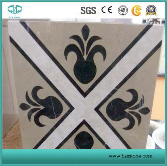 White Marble Pattern Mosaic Tile, Marble Pattern, Waterjet Marble