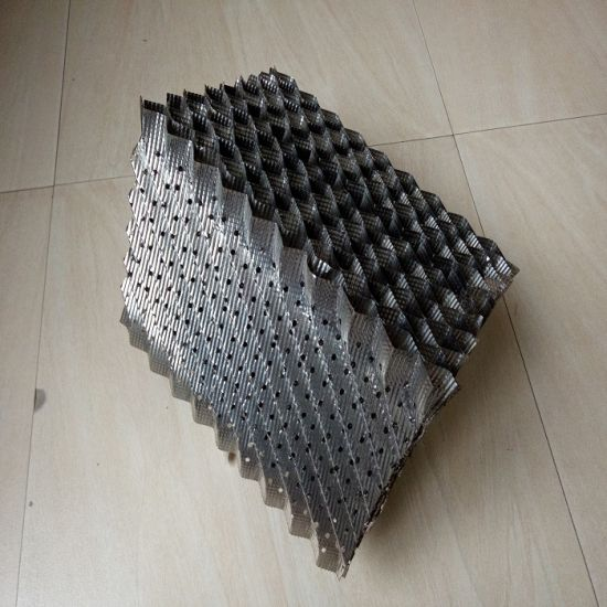 252y Metal Structured Packing Perforated Plate Corrugated Packing