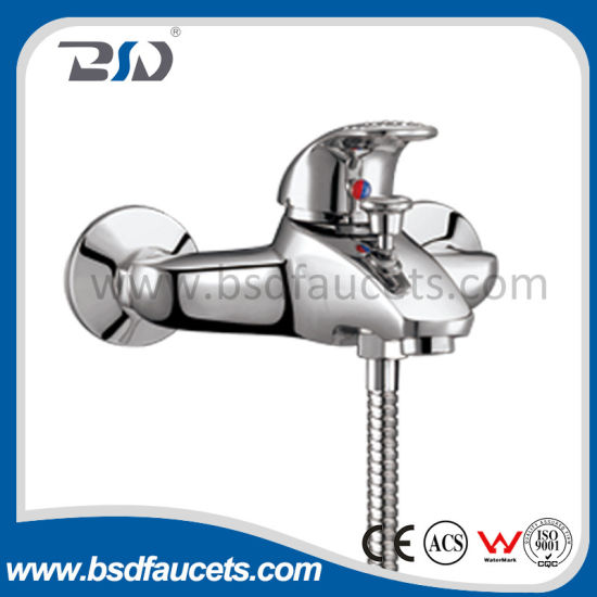 Brass Single Handle Exposed Shower Faucet Chrome Polished Bathroom Faucet pictures & photos