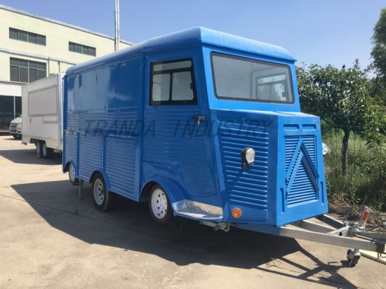 Mobile Stainless Steel Customized Durable Citroen Food Truck