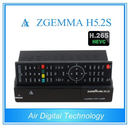 Hevc/H. 265 DVB-S2+S2 Twin Sat Tuners Zgemma H5.2s Linux OS E2 Satellite Recever&Decoder pictures & photos