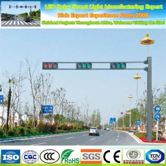 6m Q345 Galvanized Steel Poles Traffic Light Pole and CCTV Steel Pole Price