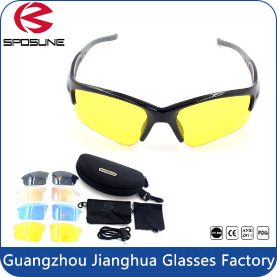 a49ff7babe4 HD Night Vision Cycling Glasses Yellow Lens Night Sport Sunglasses pictures    photos
