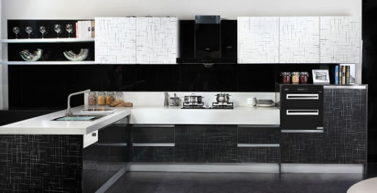 2017 New Modern High Glossy Acrylic Faced Kitchen Furniture (ykl-001)