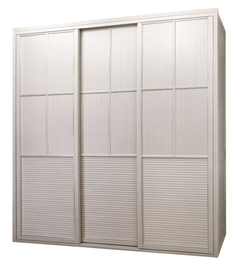 Prague Elegant Modern Style Bedroom Wardrobe With PVC Door (CA01 02)