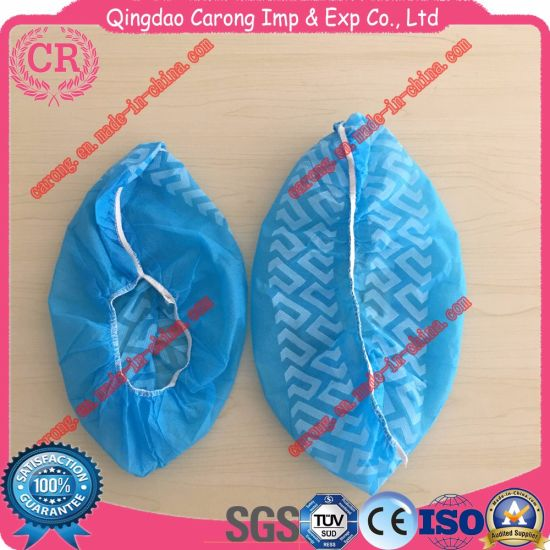 Antislip Nonwoven PE TPE Disposable Fabric Shoe Cover pictures & photos