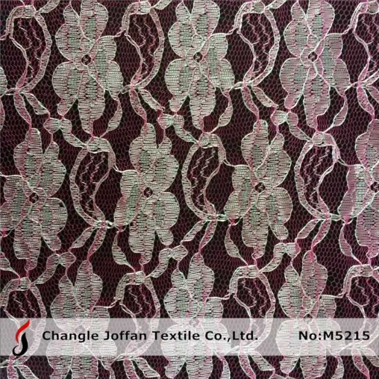 Cheap Polyester Lace Fabric for Sale (M5215)