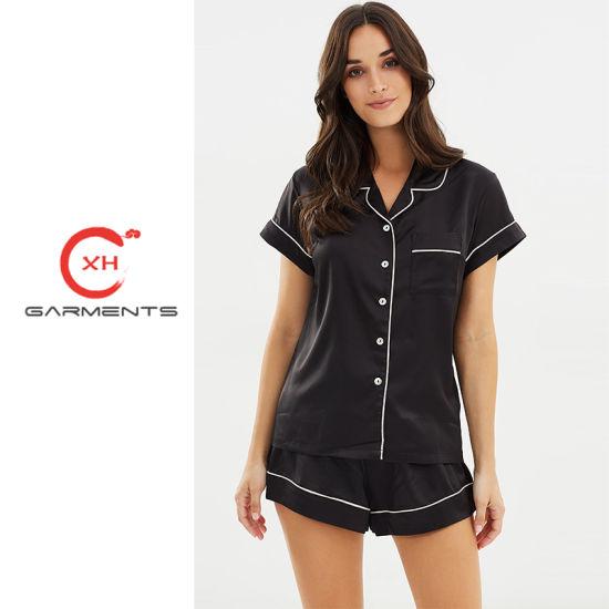 China Xh Garments Provide Luxury Pyjama Set Sleepwear - China ... b9056521a