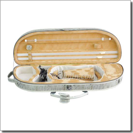 Quality Half-Moom Shape Violin Foamed Case (CSV023A) pictures & photos