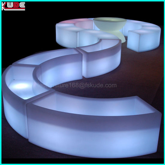 Plastic Glowing Prtable Bars And Light Up Outdoor Furniture