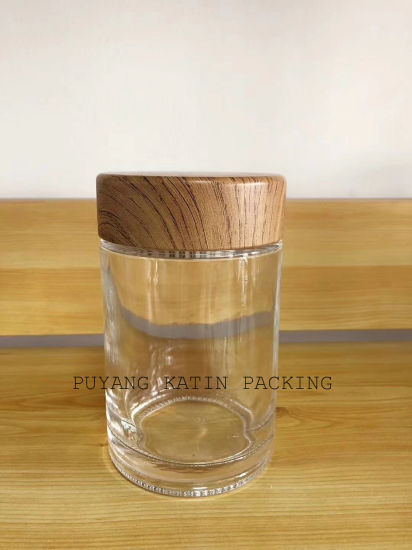 Clear Molded Honey Glass Jar