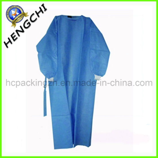 Non Woven Cloth for Surgery/Surgical Gown with Elastic Cuff (HC0052)