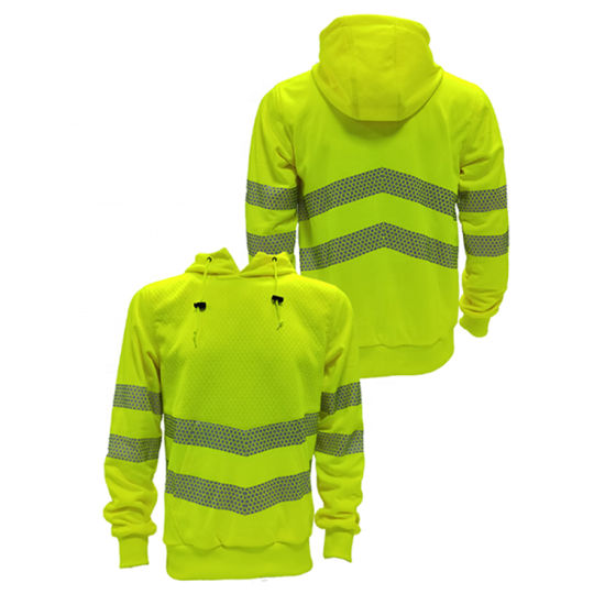 Custom Logo Hi Vis Fleece High Visibility Safety Sweatshirt Jacket Reflective Safety Jacket for Women