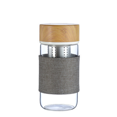 Eco-Friendly Borosilicate Glass Tea Filter Infuser Drinking Water Bottle 2021