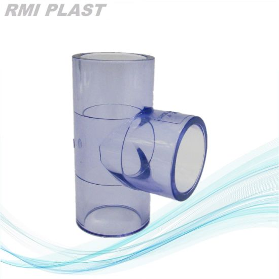 Clear PVC Pipe Fitting of 90 Deg Elbow Pn16 pictures & photos