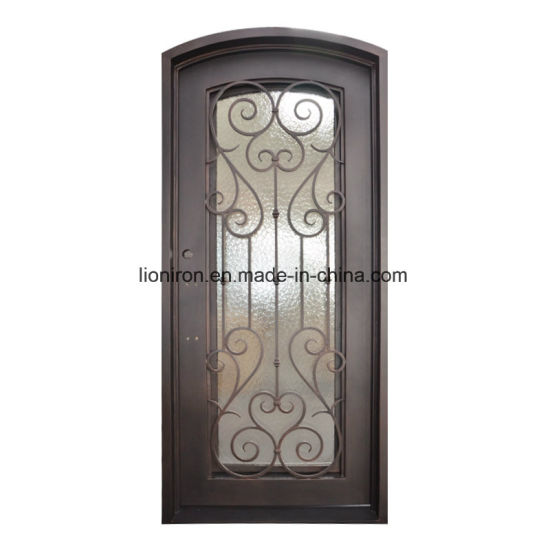 China 2018 Wrought Iron Entrance Security Door Interior Design For