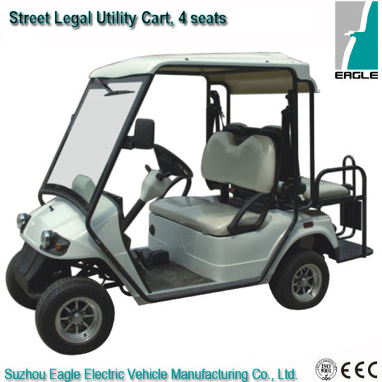 Street Legal Utilty Cart with Rear Flip Flop Seat