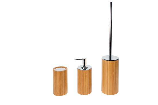 Bamboo & Stainless Bathroom Set pictures & photos