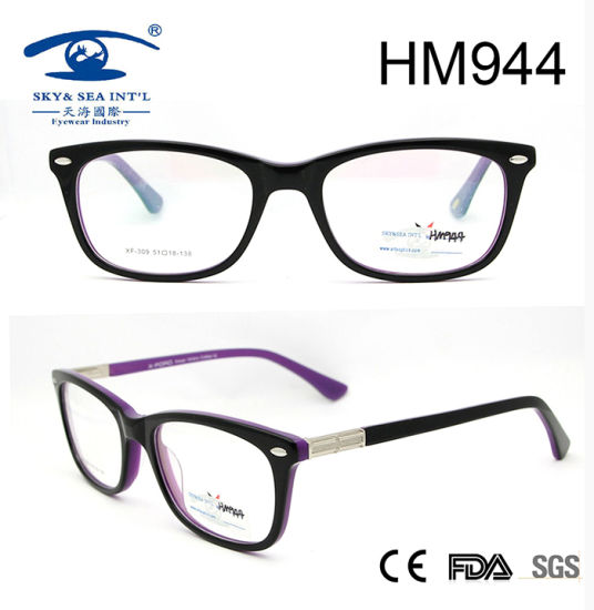 Fashionable Eyewear Glasses Acetate Optical Eyewear (HM944) pictures & photos