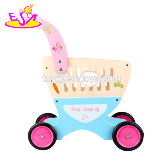 China 2018 Amazon Best Sellers Pretend Play Wooden Baby Shopping