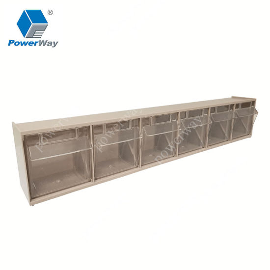 New Design Front Tilt Open Parts Plastic Storage Bins