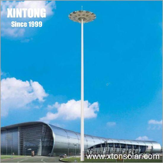 12m Hinged Pipe Tube Airport Street Lighting Pole Light