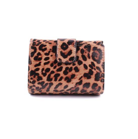 Leopard Print Purse Woman 2019 New Style Short Clip Multi-Card Purse Woman Clutch