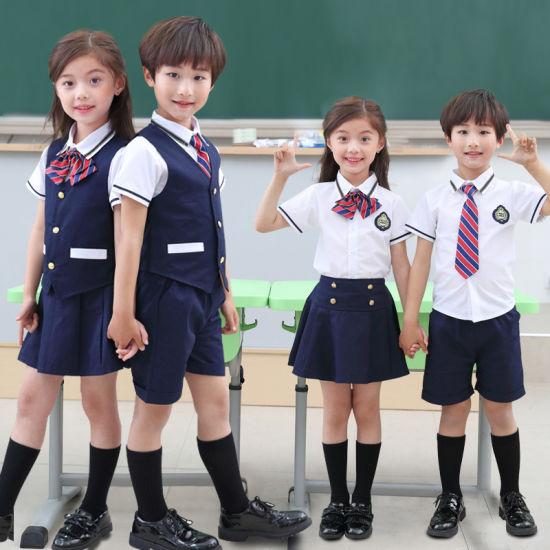 Custom Boys Girls International Primary Kindergarten High School Uniforms Pattern Design