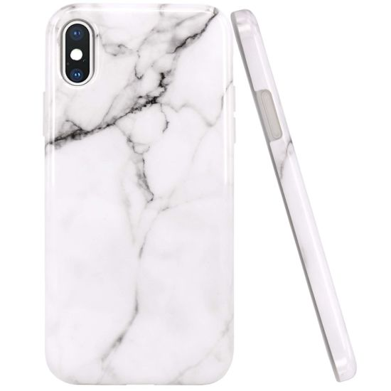 Marble Design Clear Bumper Matte TPU Soft Rubber Silicone Cover IMD Cell Phone Case pictures & photos