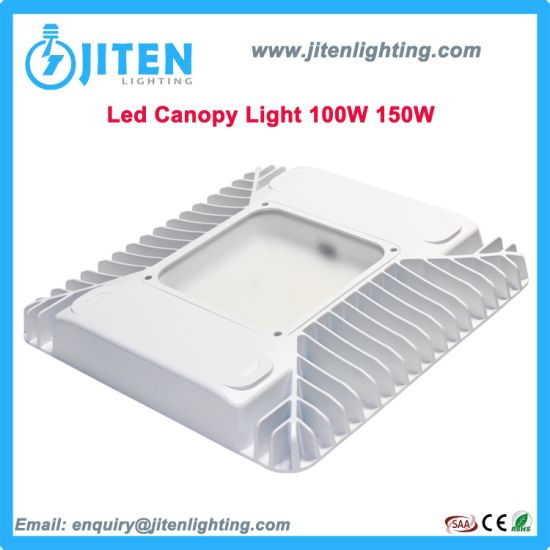 IP65 Outdoor Indoor Lamp Industrial Lighting 100W/150W High Power LED Canopy Highbay Light for Gas Station Petrol Station Ceiling High Bay Light