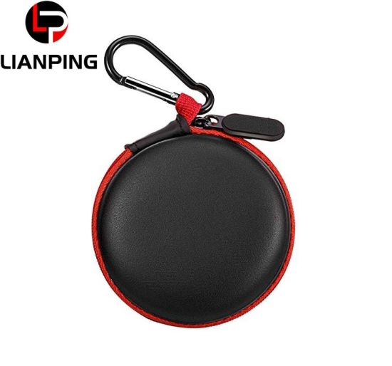 Wholesale Factory Portable Shockproof Mini Round Earphone EVA Case with Carabiner