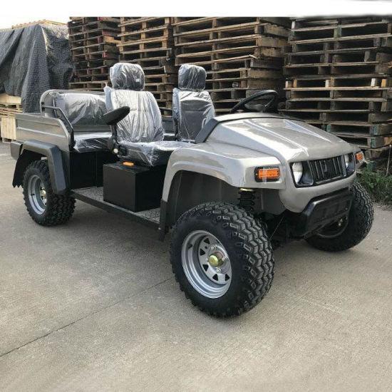 Electric Utility 4 Seater Golf Cart Fiberglass Material for Street