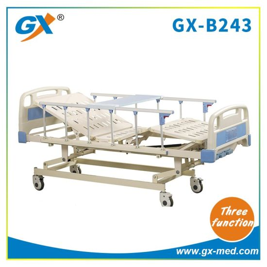 Three Functions Hoapital Bed with Over Bed Table