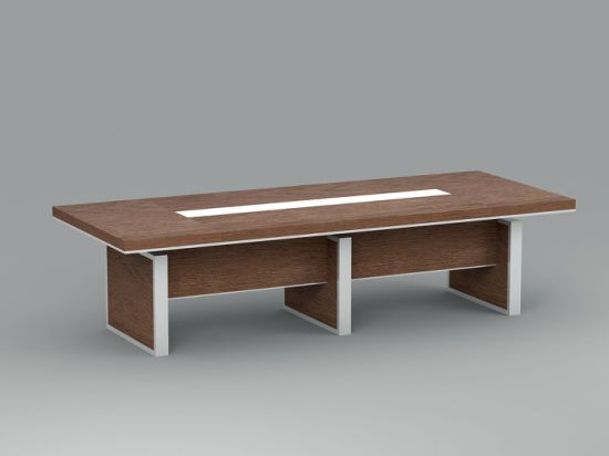 50mm Thickness Wooden Top Leg Office Meeting Room Conference Table