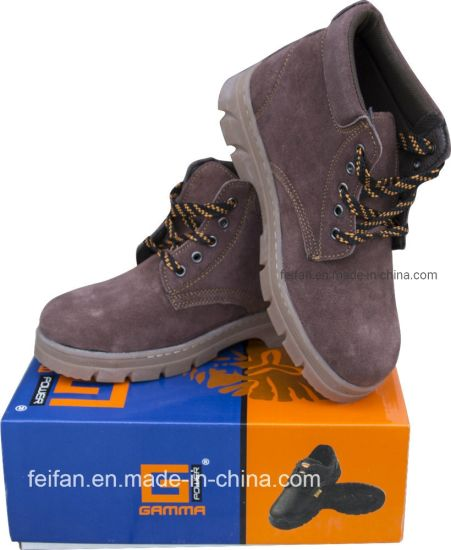 Suede Leather Safety Shoes/Safety Footwear/Leather Shoe with Oxford or Rubber Outsole